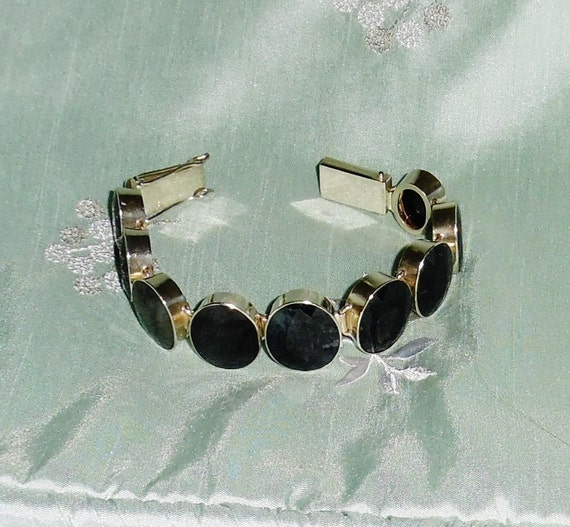 REDUCED GIA Certified 135cts Natural 9 Sapphire gemstones, 925 Sterling Silver Bracelet 7 3/4