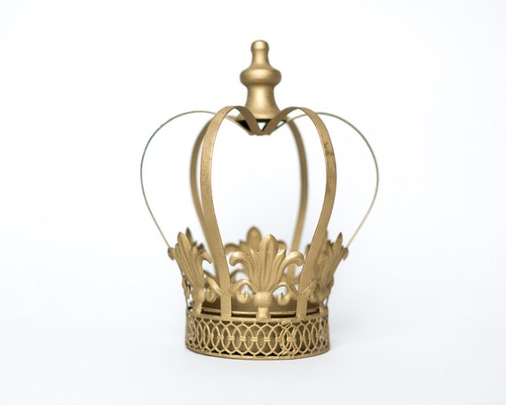 Gold crown centerpiece large wedding by