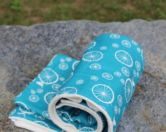 Best Organic Blanket - Turquoise - Organic Blanket - Organic Sherpa