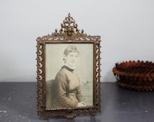 Antique Bronze Victorian Picture Frame