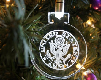 Lighted Army ornament