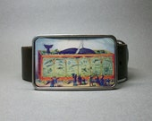 Belt Buckle Aquarium Vintage Circus Train Whale Humorous Gift for Men or Women