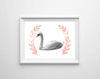 Swanderful Swan Downloadable Print