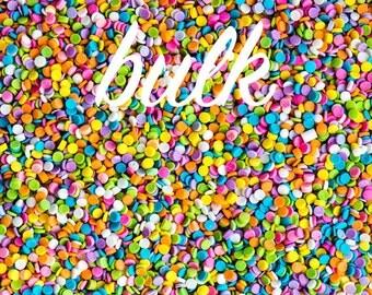 Bulk (800g/4 cups) Pastel Sequin Sprinkles, Edible Sequins, Pastel Quins, Kosher Sprinkles, Confetti Sprinkles, Bulk Sprinkles