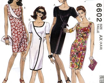 McCall's 6602 Misses' Dress Sewing Pattern - Uncut - Size 4, 6, 8