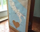I love Sicily Italy - 1 blank handmade greeting card