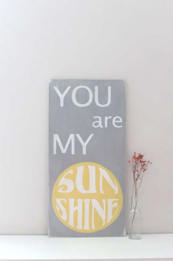 You Are My Sunshine Wall Art, Custom Wood Sign, Wood Wall Art, Sign, Wood Sign, Sunshine