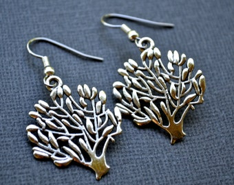 Silver Trees . Earrings