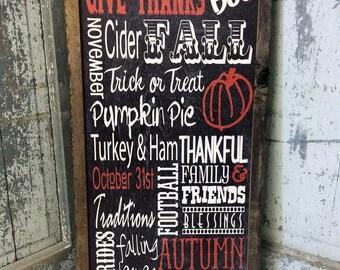 Fall Decor Wood sign. Autumn Decor, Rustic Barn Wood Framed Fall Sign, Pumpkins, Hay Rides, Thanksgiving decor, Home & Living, Halloween