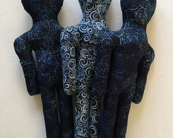 Reiki Distance Healing Doll - Indigo Batik