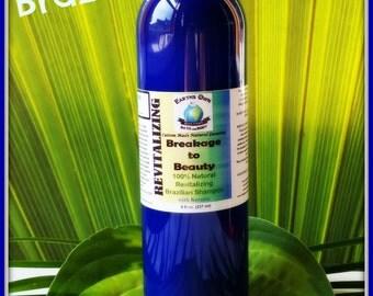 16 oz Breakage to Beauty 100% Natural Revitalizing Brazilian Shampoo w/ Keratin! SLS & Sulfate Free. Gluten Free. Color Safe. Organic.