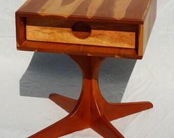 "1 ""Metropole"" Retro End Table Piebald Cherry"
