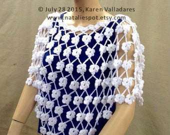 INSTANT DOWNLOAD Raining Daisies Top - PDF Crochet Pattern