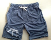 Wooly Mammoth Shorts, Men's Yoga Shorts, Workout Shorts, Gym Shorts