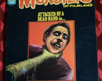 Famous Monsters Of Filmland No 97 Asylum Dracula Lee Frankenstein Robby Robot Nicholson Outer Space King Kong Baron Blood Apes Sci Fi Horror