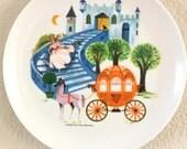 1960's Disney Cinderella Melmac Plate Set 4