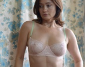 Women Sleepwear & Intimates Bras The Lacey Sheer Cup Underwire Pink Bra MADE TO ORDER