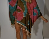 Hand Made Dashiki Dress S M L Boho Hippie Gypsy Witch Club Kid Bohemian Hipster Batik Resort Poncho Tunic Fringe Beach Mod Bohemian Festival