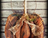 Primitive Folk art Pumpkin E Pattern
