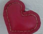 Leather plush Heart <3