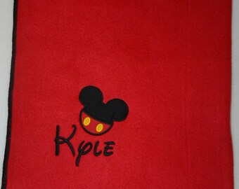Mickey Mouse Custom Fleece Blanket, Large