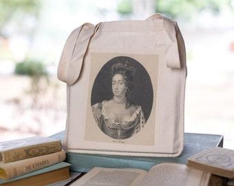 Anne Boleyn Tote, Organic Cotton Canvas Bag,  Market Tote