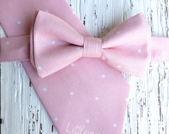 light pink bow tie, blush bowtie, vintage pink bow tie, blush ties, blush wedding, groomsmen ties, ring bearer bow tie