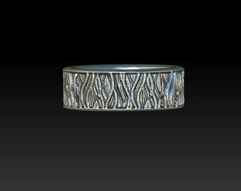 wedding ring wedding band ring texured ring TB4