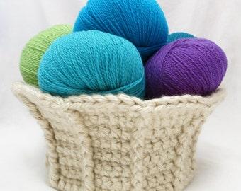 Crochet Pattern ~ Trumpet Basket ~ Crochet Pattern