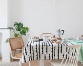 Graphic Table cloth Rainy days. table cloths. Table linen. Geometric table cloth. Modern table cloth. Tablecloth