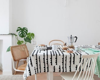 Graphic Table cloth Rainy days. table cloths. Table linen. Geometric table cloth. Modern table cloth. Tablecloth