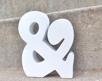 White Modern 3D Ampersand Wall and SHELF Decor