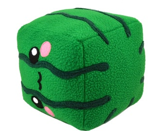Square Watermelon / cube plushee / pillow