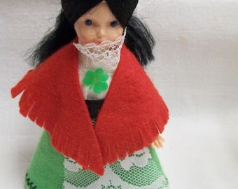 Ireland Souvenir Doll Vintage Celtic Toys All Irish Made