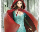 """PRINT - Open Edition - 17x24 cm unframed - """"Cappuccetto Rosso"""" (Red Riding Hood)"""