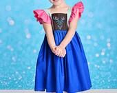 Girls Frozen Anna Dress - Frozen Birthday dress - Elsa dress - Anna Dress - Disney Trip dress - Frozen dress - Girls birthday dress