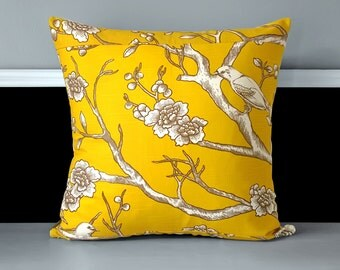 "Pillow Cover - Dwell Studio Vintage Blossom Citrine 20"" x 20"""