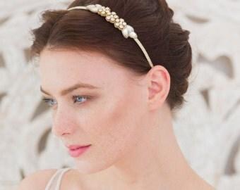 Wedding head band, Gold head band, Bridal head band, Flower head band, Sparkly head band, Sparkly head band, wedding headbands