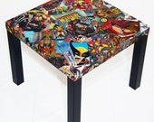 Wolverine Comic Collage Table