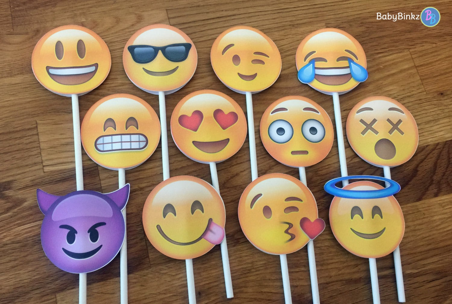 Emoji cupcake toppers party wedding birthday decoration for Decoration emoji