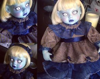 Zoe -- OOAK Halloween Porcelain Doll
