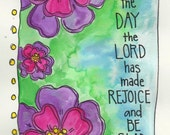 This Is the Day the Lord has Made Illustrated Watercolor Print