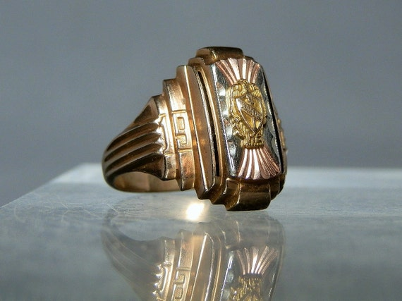 Vintage Class Ring 10k Solid Gold High School Collectible