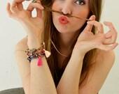 Cord Bracelet, Ethnic Bracelet, Layer Bracelet, Rope Bracelet, Hippie Jewelry, Ibiza Style, Fabric Bracelet, Tassel Bracelet,