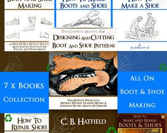 Our Latest Collection of 7 x Best Selling Rare BOOT + SHOE PATTERN Books Lessons Patterns and Designs to print out and use Instant Download