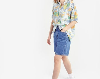 Hawaiian Printed Shirt with Short Sleeves
