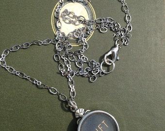 Typewriter key pendant