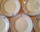 U.S.Navy Dinnereware Bread Plate Plates Military History TEPCO Restaurant Ware Warrent Officer Mess Hall Fouled Anchor 5