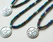 Astrology sign, long beaded necklace-astrology jewelry,zodiac charm necklace, zodiac pendant, birthday gift, pendant necklace, horoscope