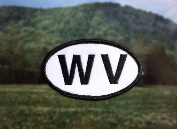 west virginia wv patch iron or sew on 2 x 3 5 by noffhouseshop
